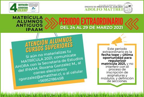 Home Periodo Extraordinario Matrícula Cursos Superiores 24-03-2021